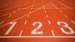 canvas print picture - Athletics track