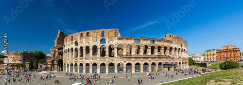 Photo Stands Rome Flavian Amphitheatre (Colosseum) in Rome, Italy