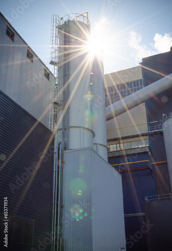 Foto op Plexiglas Stadion Part of industrial power plant or factory.