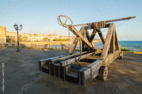 Alghero, Sardinia Island, Italy in the sunset. Catapult Fototapeta