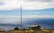 Lighthouse against the ocean, Madeira.