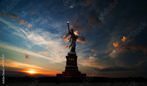 Fotografie, Tablou Independence day. Liberty enlightening the world