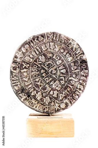 Isolated Phaistos Disc Tablou Canvas