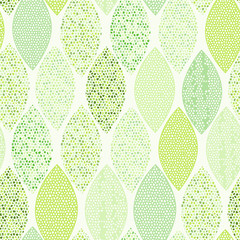 Fototapeta Liście Seamless pattern of abstract leaves.