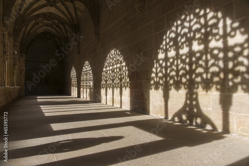 Fotografering Cloister of the Monastery of Santa Maria la Real de Najera, La R