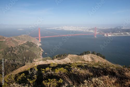 Poster Lieux connus d Amérique Marin and Golden Gate Bridge