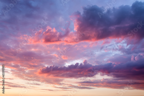 Fototapeta Sky with beautiful clouds at sunset obraz