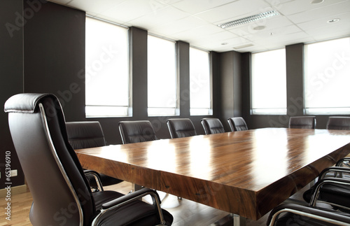 Fotografie, Obraz  Modern meeting room with solid wood table