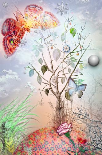 Montage in der Fensternische Phantasie Garden of eden series