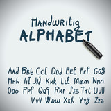 Hand drawing alphabet