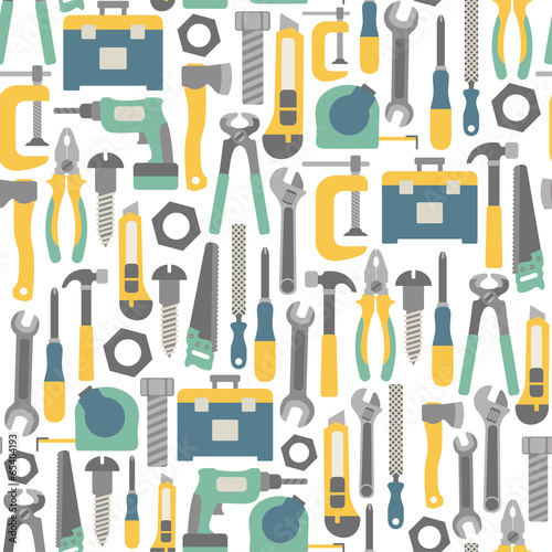 Fotografía  seamless pattern with tools icons