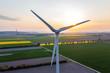 Leinwandbild Motiv Windenergie und Sonnenenergie