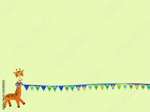 giraffe illustration Poster