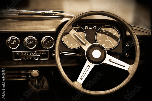 Vintage car dashboard #65408734