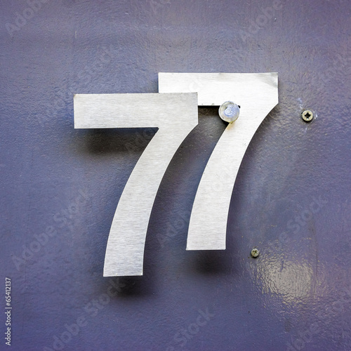 Fotografie, Obraz  Number 77