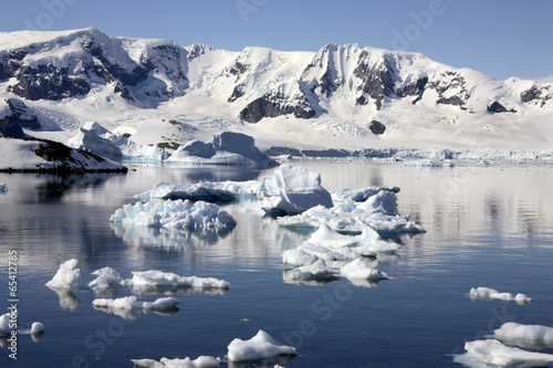 Printed kitchen splashbacks Glaciers Antarctic Peninsula in Antarctica