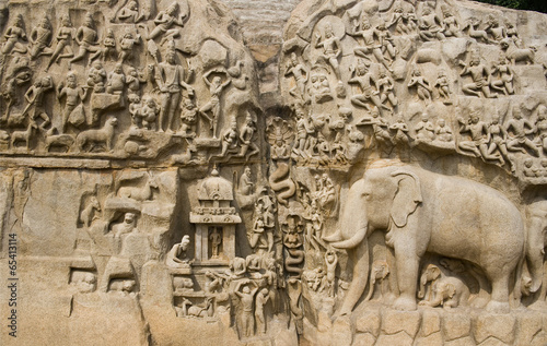 Arjunas Penance - Mahabalipuram - India Slika na platnu