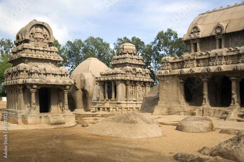 Fotografie, Obraz  Panch Rathas - Mahabalipuram - India