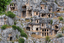Ruins Of Ancient Tombs In Myra...