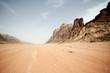 canvas print picture - Desert landscape - Wadi Rum, Jordan