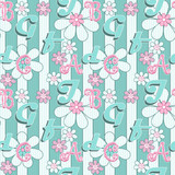 Letters illustration seamless pattern