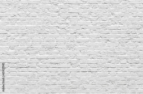 Staande foto Wand White brick wall