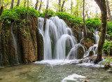 Waterfall in the Plitvice Lakes
