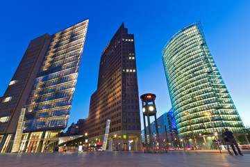 Panel Szklany Podświetlane Berlin Potsdamer Platz - Berlin
