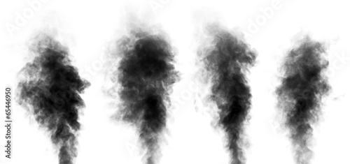 Fotobehang Rook Set of steam looking like smoke isolated on white