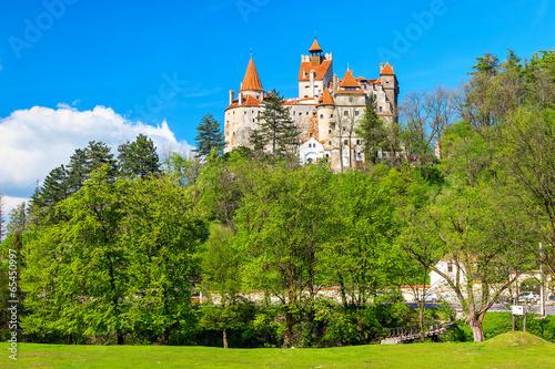 Staande foto Kasteel The famous Dracula castle,Bran,Transylvania,Romania