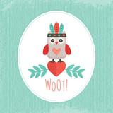 ładny owlet miętowy hipster - 65454528