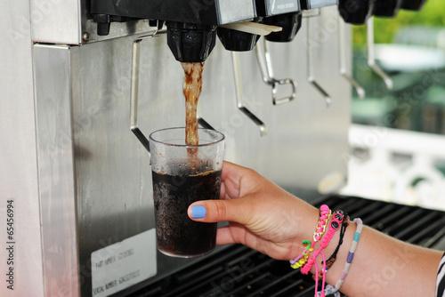 Drinks Machine Canvas Print