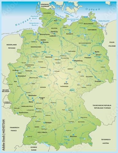 Fotografía  Karte von Deutschland