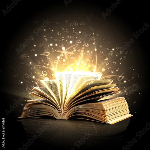 Juliste Magic book with magic lights