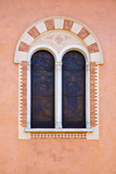 abbiate varese italy abstract  window   in the church wall