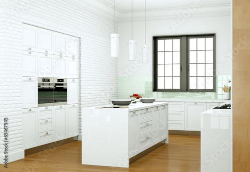 Fototapeta modern Kitchen Interior Design obraz na płótnie