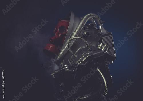 Scifi, man with robotic armor, Starfighter Wallpaper Mural