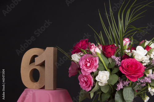Poster  Happy birthday with roses