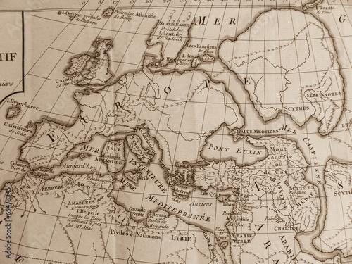Fotobehang Wereldkaart 古地図 ヨーロッパ
