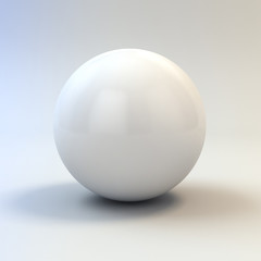 3d white glossy sphere