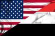 Waving flag of Yemen and USA