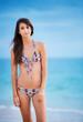 Bikini on the Beach Sunset