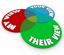 My Your Their View Opinions Venn Diagram Common Shared Interests