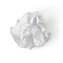 Paper Ball Isolated On White With Clipping Path