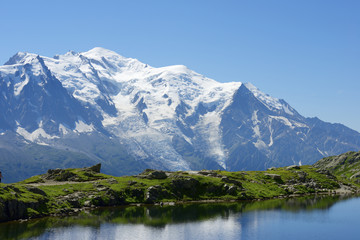 Panel Szklany Góry Mont Blanc