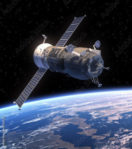 Foto op Canvas UFO Cargo Spacecraft