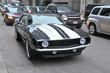 American muscle car on a street in Chicago