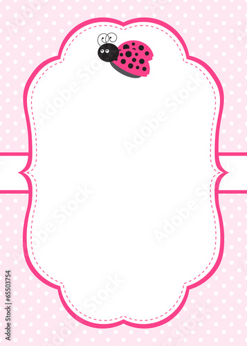 Pink ladybug invitation buy this stock vector and explore similar pink ladybug invitation stopboris Image collections