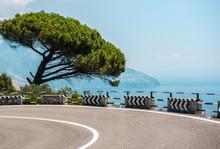 The Road Along The Amalfi Coast. Italy