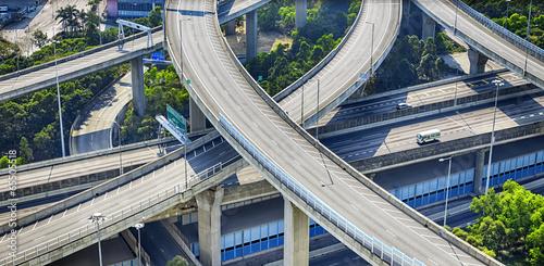 city overpass in HongKong,Asia China Canvas Print